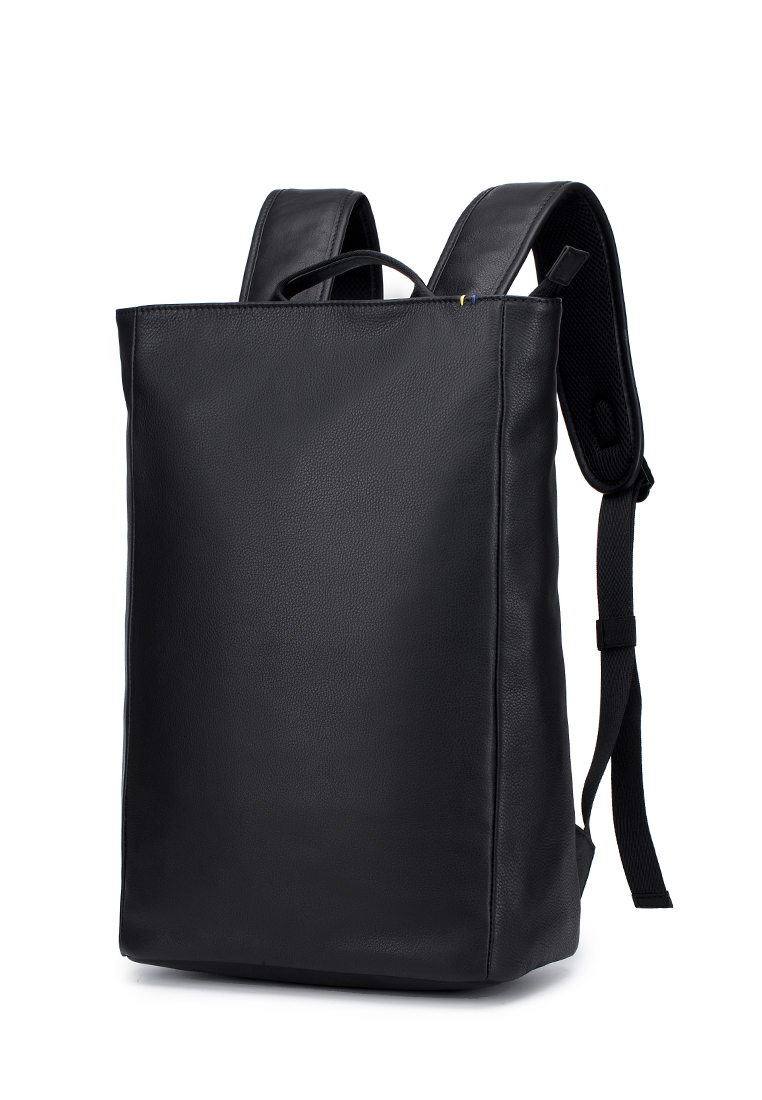 Madrid Soft Cow Leather Top Zip Minimalist Backpack