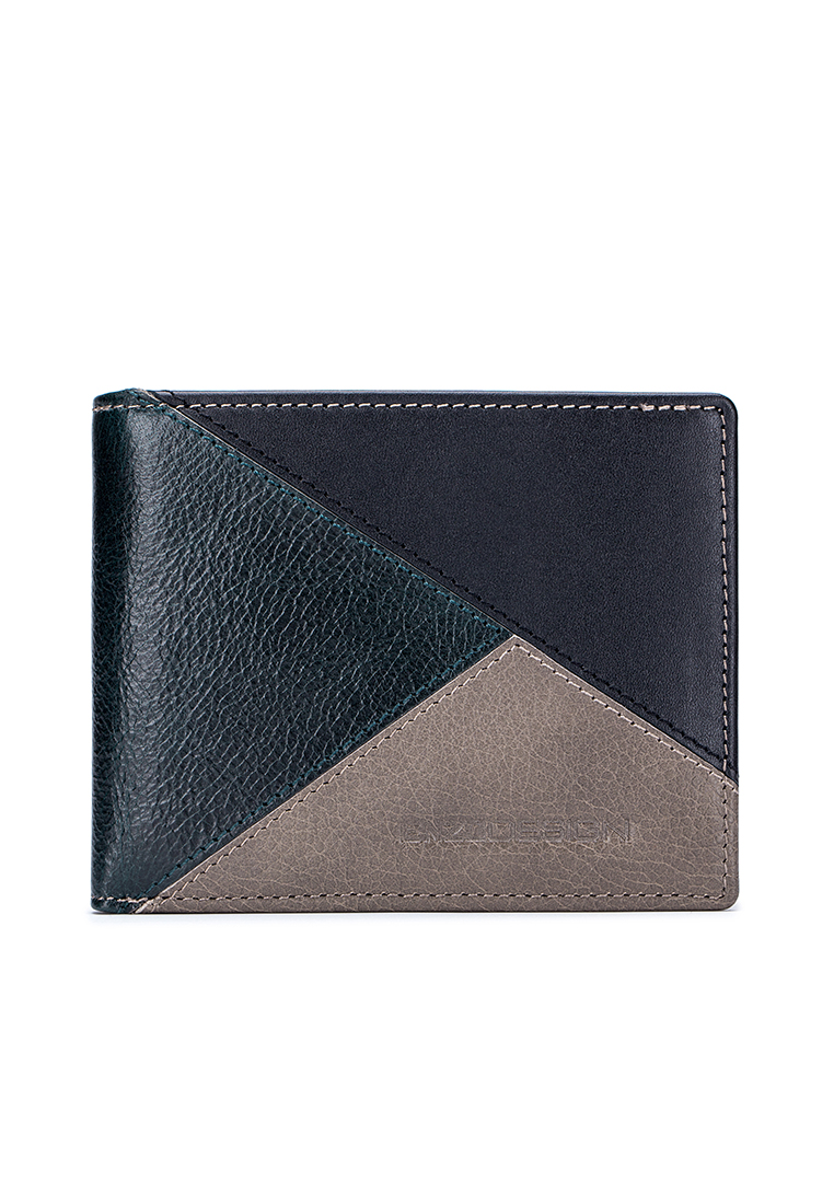 Pazuru Leather Multi-Compartment Wallet (With Zip Coin Pocket) (LWCB20L-XR)
