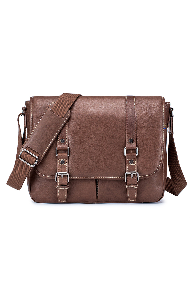 Heritage Leather Messenger Bag  (B11133)