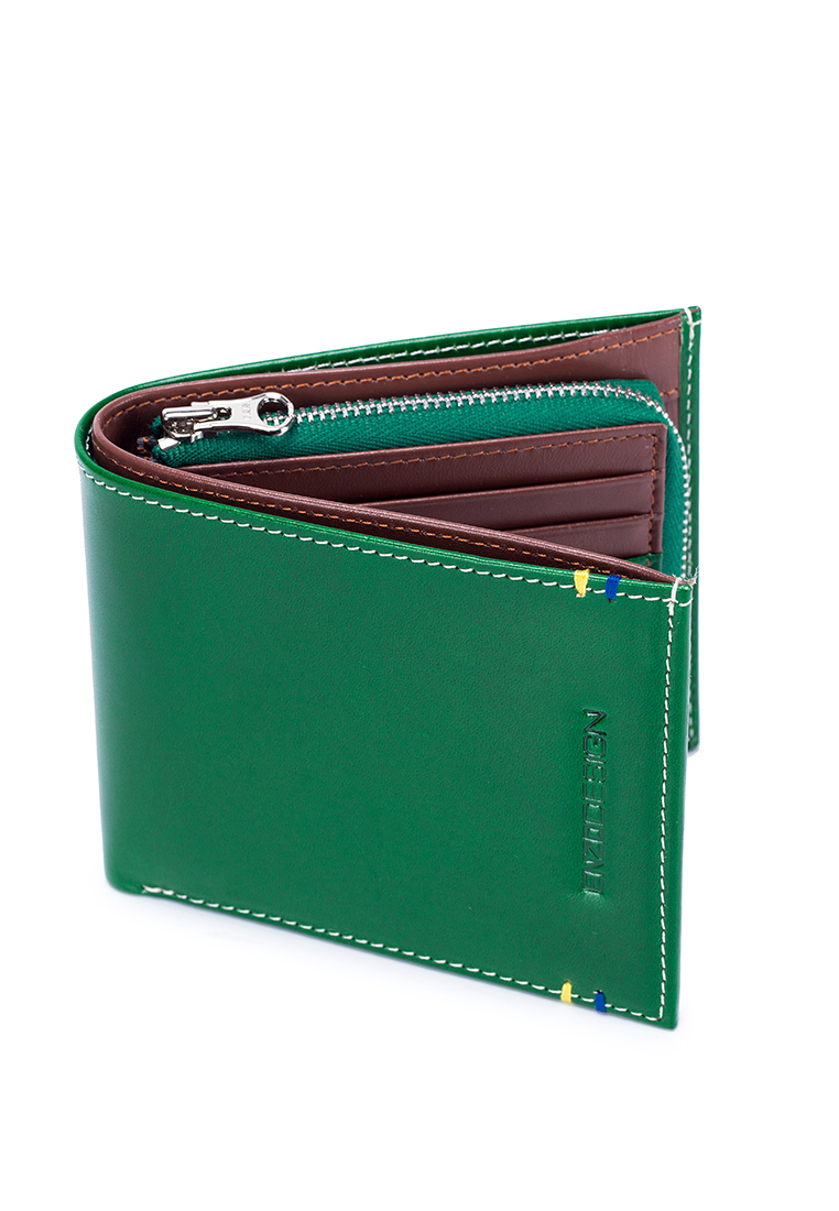 ENZODESIGN Italian Leather Wallet with Zip Coin Compartment (LWK20GT-X)