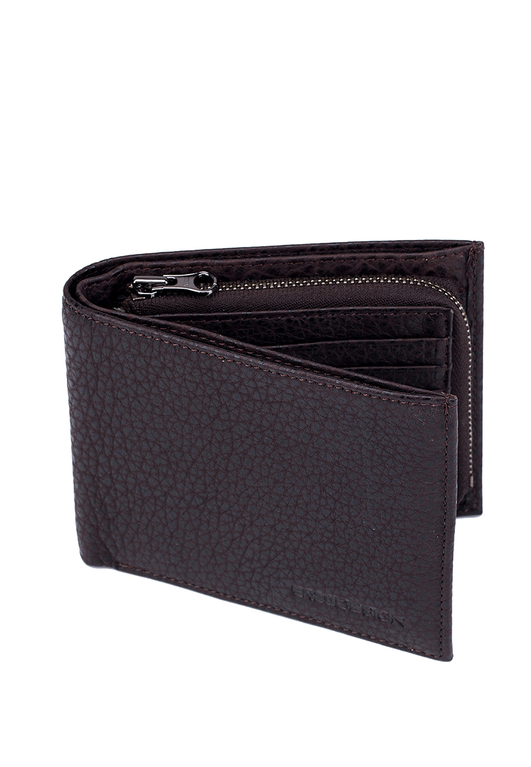 USA Bison Leather Premium Wallet with Zip Coin Compartment